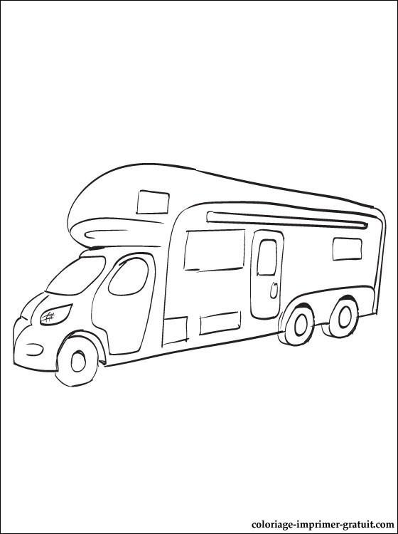 Coloriage et dessins gratuits Camping Véhicule à imprimer
