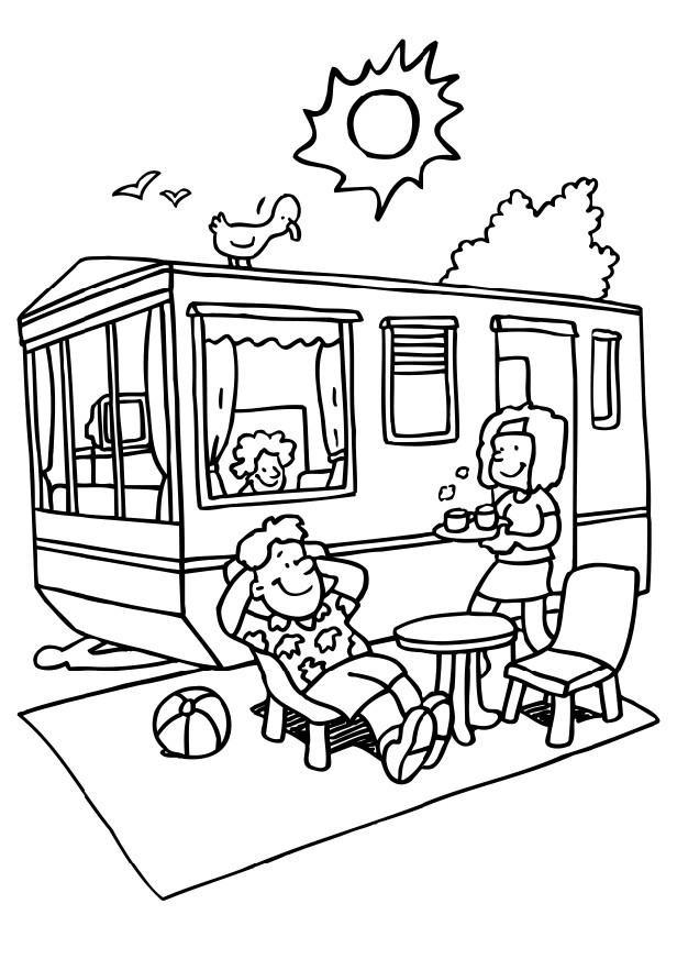 Coloriage caravane camping dessin gratuit imprimer - Dessin a colorier camping car gratuit ...
