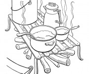 Coloriage Cuisine Camping