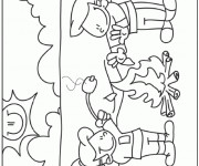 Coloriage Feu Camping multifonctionnel
