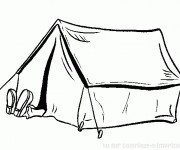 Coloriage Homme qui se repose Camping
