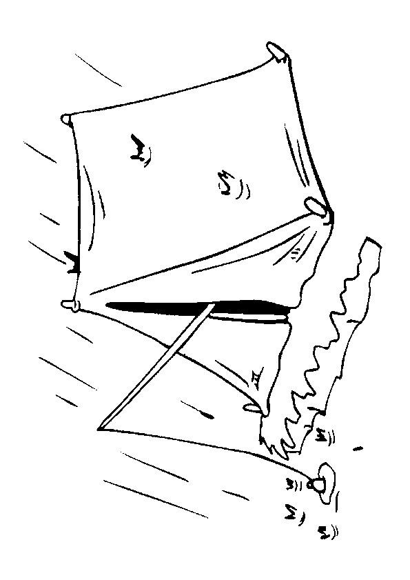 Coloriage et dessins gratuits Jour pluvieux en Camping à imprimer