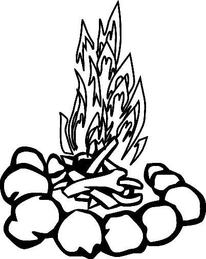 Coloriage le feu de camping dessin gratuit imprimer - Dessin a colorier camping car gratuit ...