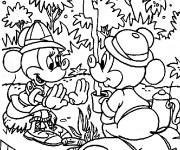 Coloriage Mickey Mouse Camping
