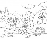 Coloriage Ours infiltre Camping