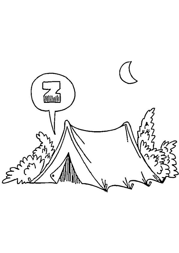 Coloriage et dessins gratuits Paysage Camping à imprimer
