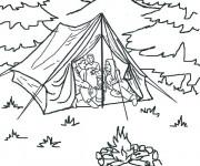 Coloriage et dessins gratuit Tente Camping à imprimer
