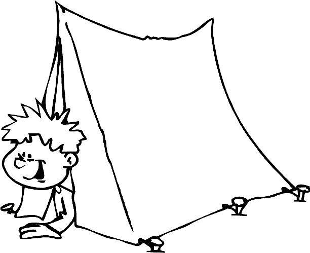 Coloriage et dessins gratuits Tente Camping couleur à imprimer