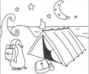 Coloriage et dessins gratuit Tente de Camping en Pôle Nord à imprimer