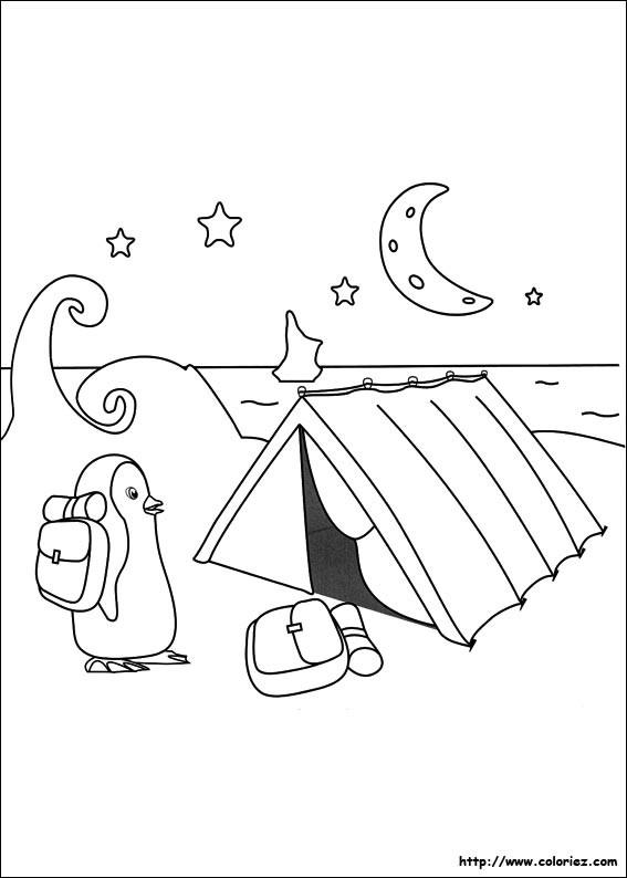 Coloriage et dessins gratuits Tente de Camping en Pôle Nord à imprimer