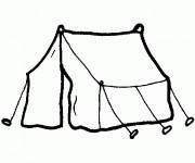 Coloriage et dessins gratuit Tente de Camping facile à imprimer