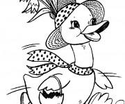 Coloriage et dessins gratuit La mère Canard à imprimer