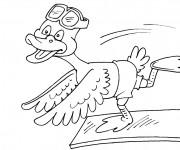 Coloriage et dessins gratuit Le canard dans le piscine à imprimer