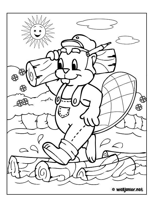 Coloriage et dessins gratuits Castor Le Menuisier à imprimer