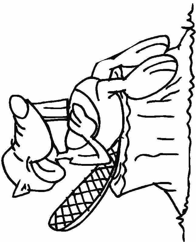 Coloriage et dessins gratuits Castor qui rigole à imprimer