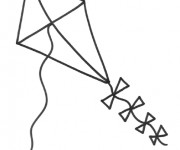 Coloriage dessin  Cerf-volant 15
