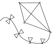 Coloriage dessin  Cerf-volant 4