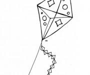 Coloriage et dessins gratuit Cerf-volant à découper à imprimer