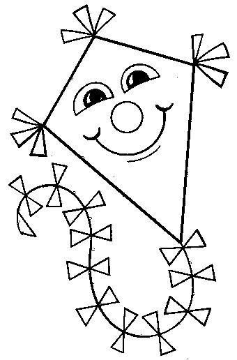 Coloriage et dessins gratuits Cerf-volant avec le visage bien heureux à imprimer