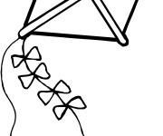 Coloriage Cerf-volant couleur