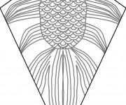 Coloriage Cerf-volant décoré