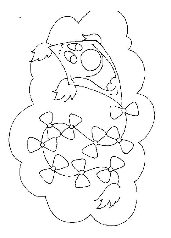 Coloriage et dessins gratuits Cerf-volant derrière les nuages à imprimer