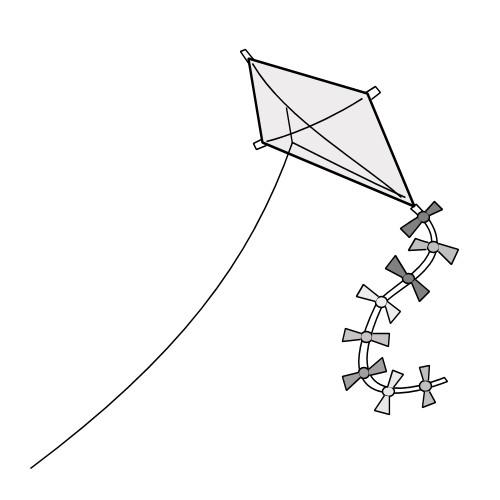 Coloriage et dessins gratuits Cerf-volant en Gris à imprimer