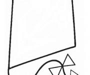 Coloriage et dessins gratuit Cerf-volant en noir à imprimer