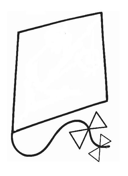 Coloriage et dessins gratuits Cerf-volant en noir à imprimer