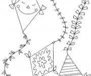 Coloriage et dessins gratuit Cerf-volant magnifique à imprimer