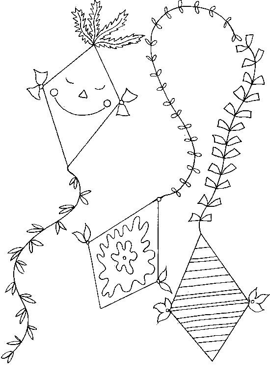 Coloriage et dessins gratuits Cerf-volant magnifique à imprimer
