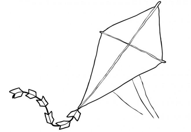 Coloriage et dessins gratuits Cerf-volant objet d'enfants à imprimer