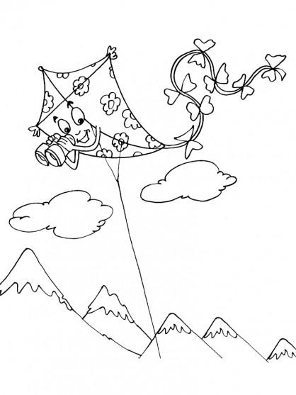 Coloriage et dessins gratuits Cerf-volant portant des binoculaires à imprimer