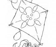 Coloriage et dessins gratuit Cerf-volant pour enfant à imprimer