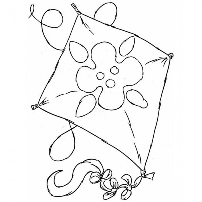 Coloriage et dessins gratuits Cerf-volant pour enfant à imprimer