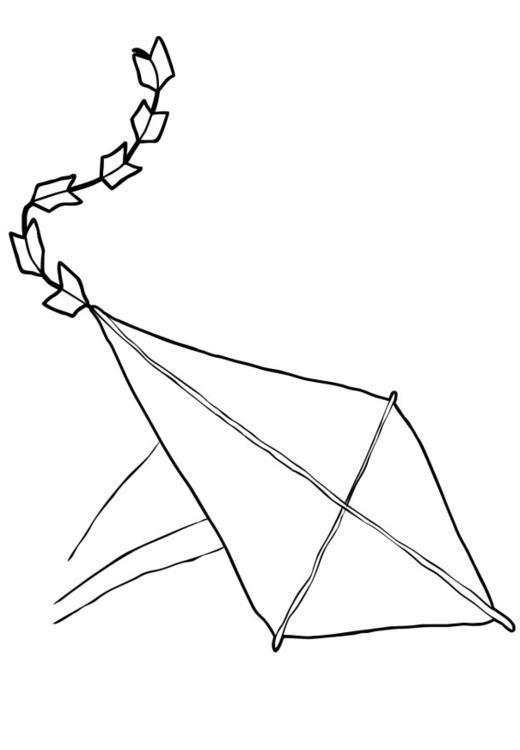 Coloriage et dessins gratuits Cerf-volant qui tombe à imprimer