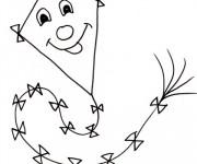 Coloriage et dessins gratuit Cerf-volant rigolo à imprimer