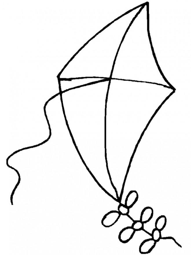 Coloriage et dessins gratuits Cerf-volant simple à imprimer