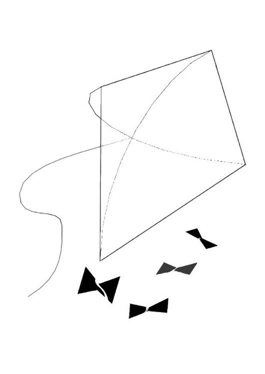 Coloriage et dessins gratuits Cerf-volant simplifié à imprimer
