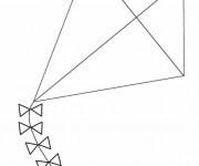 Coloriage et dessins gratuit Modèle de Cerf-volant à imprimer