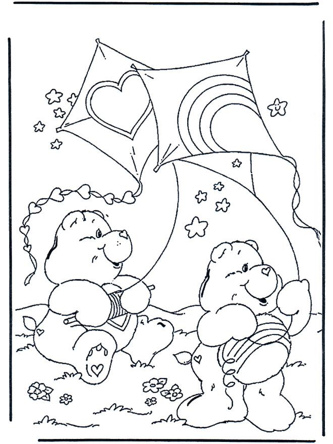 Coloriage et dessins gratuits Ours et Le Cerf-volant à imprimer