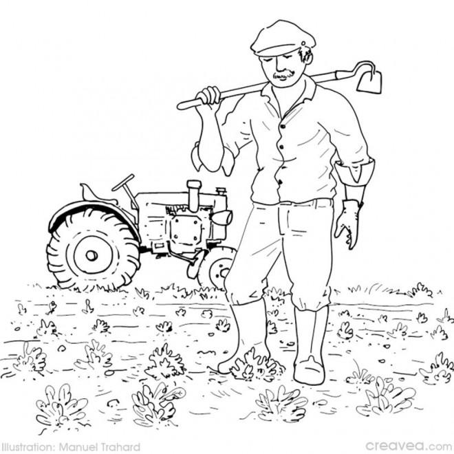 Coloriage et dessins gratuits Agriculture dans le champs à imprimer