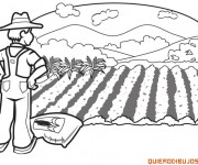 Coloriage et dessins gratuit Agriculture maternelle à imprimer