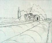 Coloriage Champs au crayon