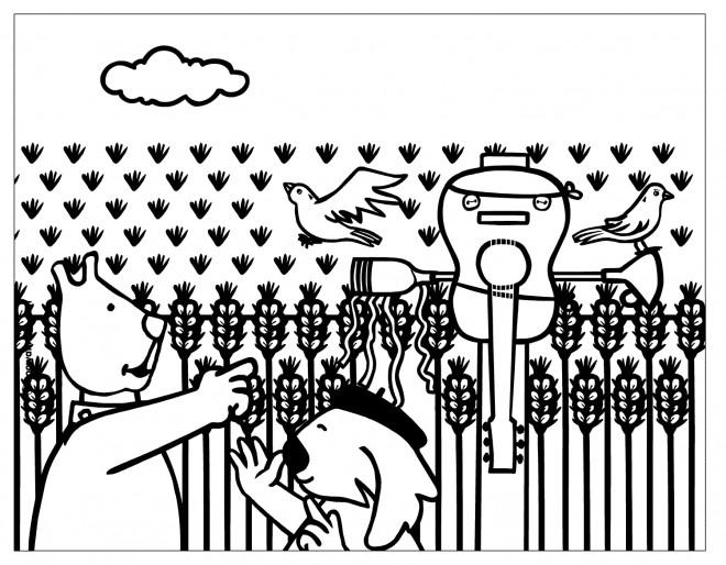 Coloriage et dessins gratuits Champs dessin animé à imprimer