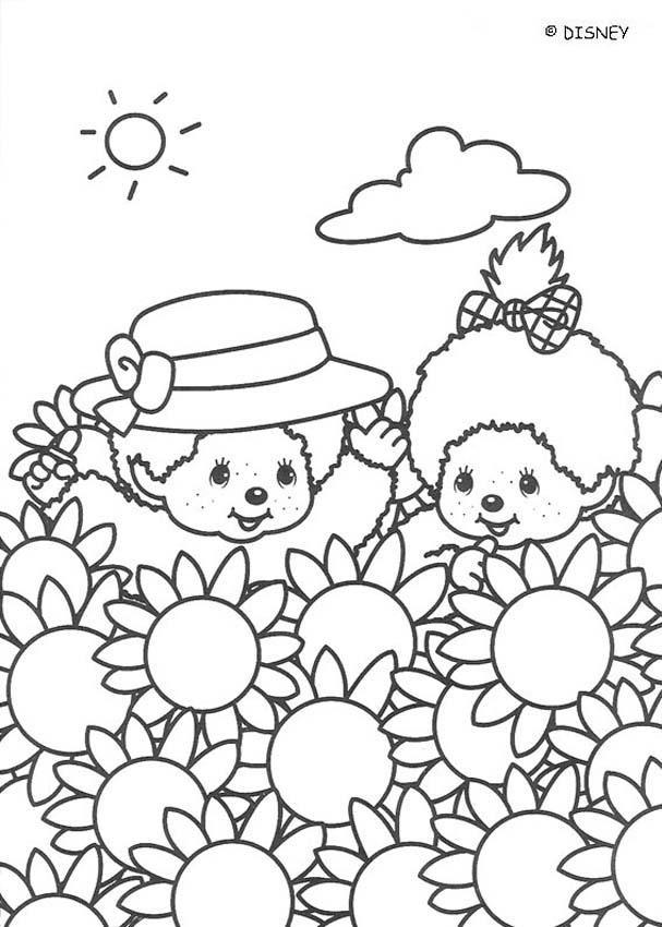 Coloriage et dessins gratuits Enfants et Champs Disney à imprimer