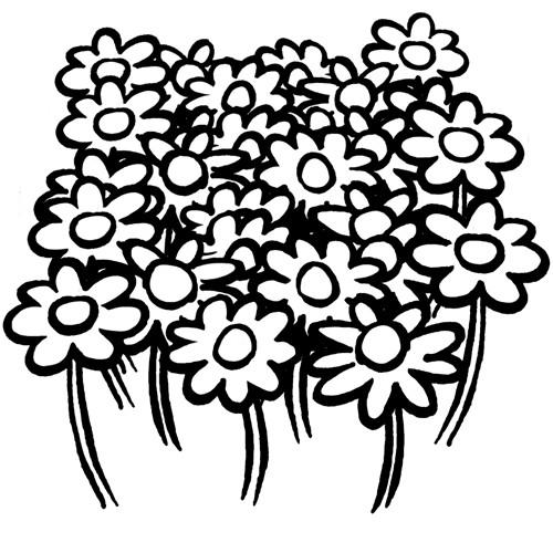 Coloriage et dessins gratuits Fleurs de Champs à imprimer