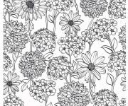 Coloriage Fleurs et Champs