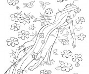 Coloriage et dessins gratuit La Princesse dans Le Champs à imprimer