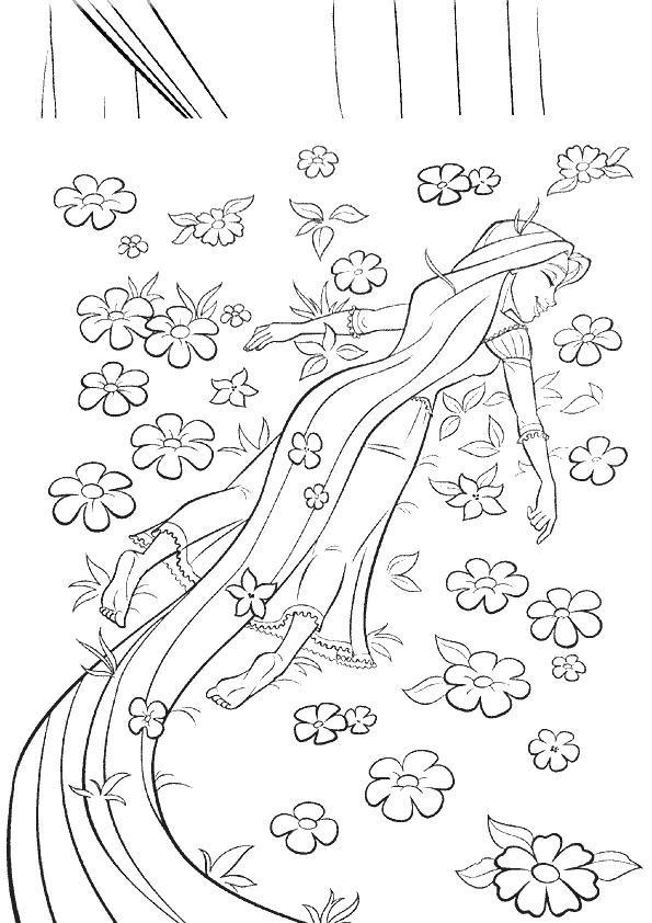 Coloriage et dessins gratuits La Princesse dans Le Champs à imprimer